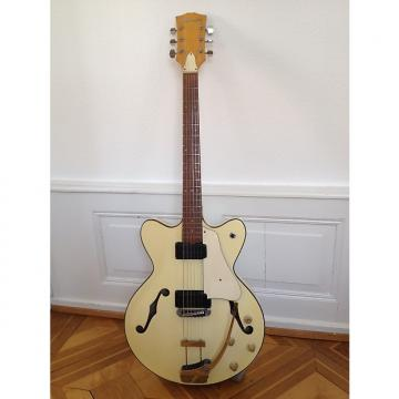 Custom Zen-On Morales thinline electric hollowbody guitar with 2 pickups 1968 Beige