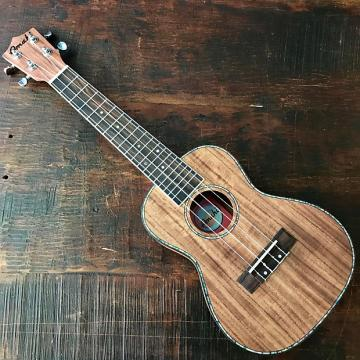 Custom Amahi Classic Koa Concert Ukulele w/ 10mm Padded Bag and Leather Pick