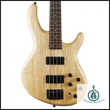 Custom Cort Action Series Deluxe 4-String Bass, Natural ACTIONDLXASOPN