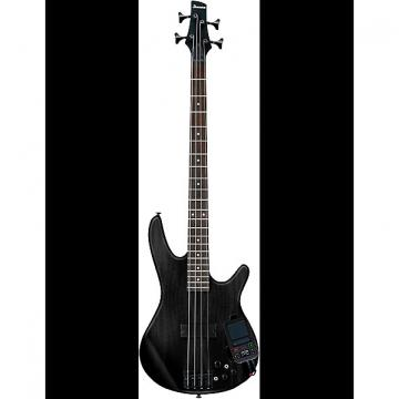 Custom Ibanez SRKP4 Weathered Black Bass Guitar with Korg Mini Kaoss Pad 2