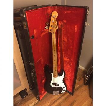 Custom Fender Precision Bass 1973 Black/maple