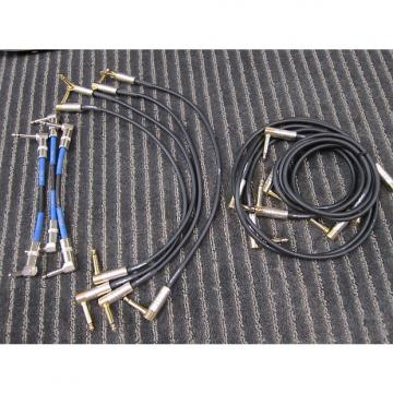 "Custom DigiTech 11 Guitar Pedals Cables, 90 Degree Hardwire + EGO6LL, 8"", 18"" + 36"", Quality, Unused, Prices as the Lot"