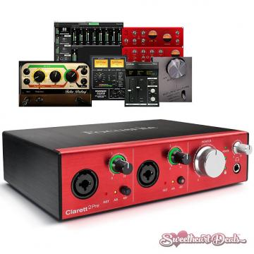 Custom Focusrite Clarett 2Pre - Thunderbolt Interface with Clarett Microphone Preamps