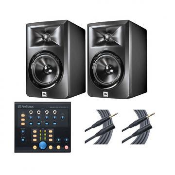 Custom 2x JBL LSR305 + Monitor Station V2 + Mogami Cables