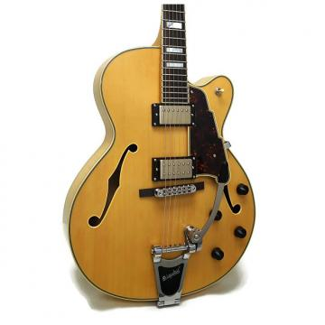 Custom D'Angelico EX-175 Excel Series Hollowbody Electric Guitar w/ Case - Natural Tint