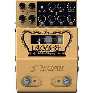 Custom Two Notes Audio Engineering Le Crunch 2-Ch British Tones Tube Preamp Pedal