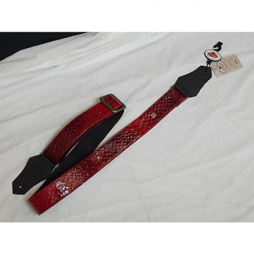 Custom GET'M GET'M Anakonda Red REPTILE print GUITAR strap NEW - Snake anaconda