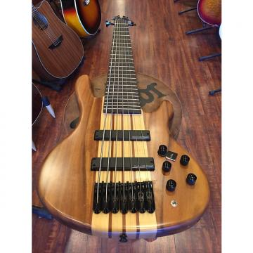 Custom 2017 Wolf 7W Satin Walnlut 7 String Active/Passive Bass