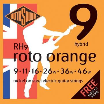Custom Rotosound RH9 Nickel Hybrid Electric Guitar Strings 9-46