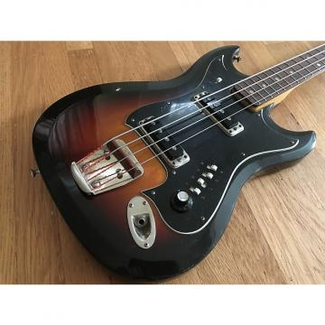 Custom 1967 Hagstrom H II B Electric Bass w/ Original HSC 3 Color Sunburst