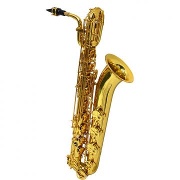 Custom Schiller American Heritage 400 Baritone Saxophone - Gold Knox