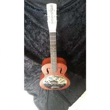 Custom Gretsch G9200 Boxcar Round-Neck Resonator Guitar Brown Mahogany