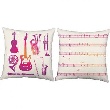 Custom Pink Instruments - RoomCraft Throw Pillows