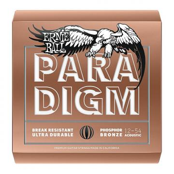 Custom Ernie Ball 2076 Paradigm Phosphor Bronze Acoustic Guitar Strings, Med Light (12-54)