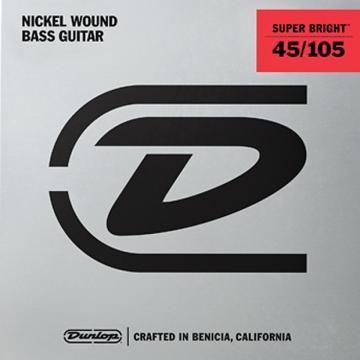 Custom Dunlop Super Bright Nickel Wound Bass String Set .45-.105 3 Sets @ $29.00