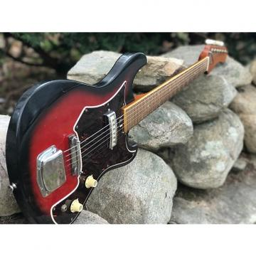Custom 1967 Kingston Tiesco Single Pickup Surf Guitar with OHSC Red Burst