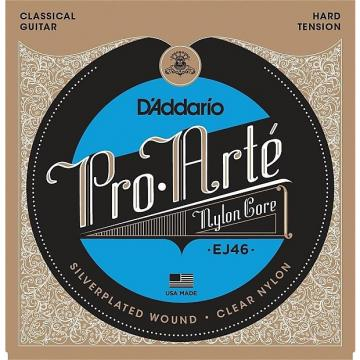 Custom D'Addario Pro Arte Classical Guitar Strings hard tension EJ46; silver & clear