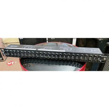 Custom Neutrik NYS-SPP-L1 48-Point TRS Patchbay, 2000's, Black, 1U, 24 Front, 24 Back, 3 Modes