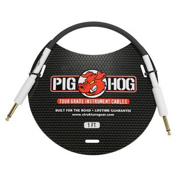 "Custom Pig Hog 1ft 1/4"" to 1/4"" Instrument Cable w/ FREE SAME DAY SHIPPING"