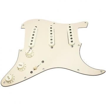 Custom Loaded Strat Pickguard, Fender Deluxe Drive Pickups, Blend Pot, Cream/Aged White