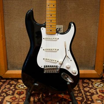 Custom Vintage 1983 Fender Squier JV SST50 50s Reissue 'Flagship Model' Black Japan Stratocaster Guitar