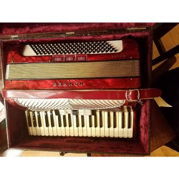 Custom Vintage Hohner Polka  Red 120 LMM Accordion