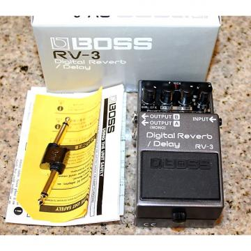 Custom BOSS RV-3 Pink Label Digital Reverb Delay & Monster pedal patch coupler cable
