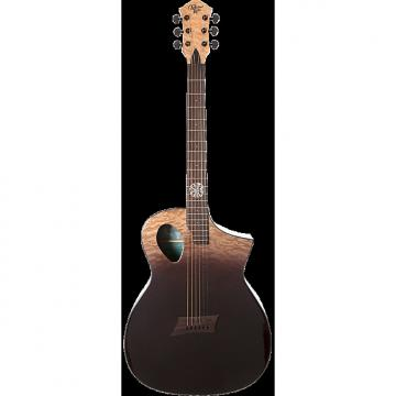 Custom Michael Kelly Forte Port X Partial Eclipse acoustic electric guitar - Port sound hole