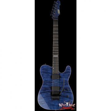 Custom ESP USA TE-II FR Flame Maple Top with Ebony Fretboard Cobalt Blue