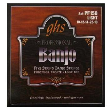 Custom GHS Banjo 5 Strings Phosphor Bronze Loop End - Light