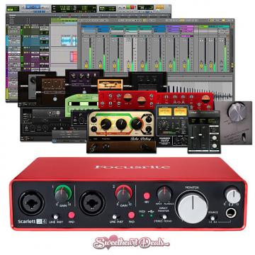 Custom Focusrite Scarlett 2i4 (2nd Gen) USB Audio Interface with Pro Tools First