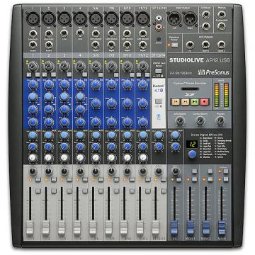 Custom Presonus - StudioLive AR12 USB 14-Channel hybrid Performance and Recording Mixer