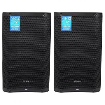 "Custom Presonus - AIR12 12"" 2400 Watt Powered Active 2-Way PA DJ Speakers - Pair"