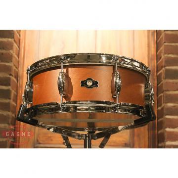 Custom George Way Tradition Mahogany 5.5x14 Natural Snare Drum