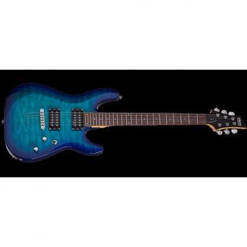 Custom Schecter C-6 Plus Electric Guitar Ocean Blue Burst