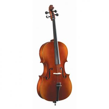 Custom Becker 4000F 4/4 Full Size Solid-Top Cello Outfit - Red-Gold Gloss Finish