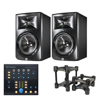 Custom 2x JBL LSR308 + Monitor Station V2 + IsoAcoustics