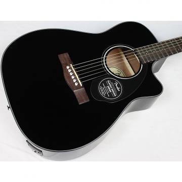 Custom Fender CC-60SCE Concert Acoustic-Electric Guitar Black Gloss Finish NEW! #39892