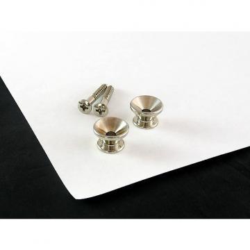 Custom Strap Button Nickel Set of 2 w/ screws for Fender AP 0670-001