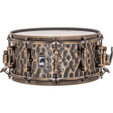 Custom Mapex Black Panther Series Sledgehammer Hammered Brass Snare Drum 6.5x14