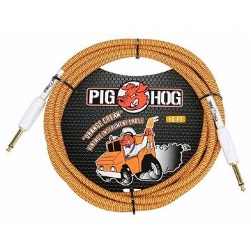 Custom Pig Hog PCH10CC Orange Cream Instrument Cable 10 Feet