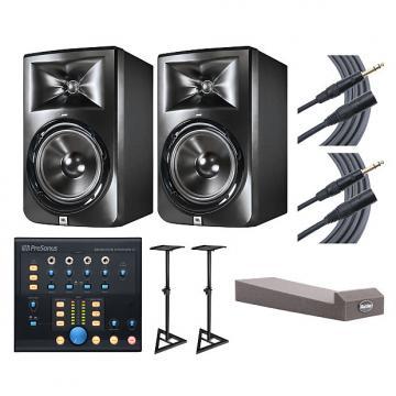 Custom 2x JBL LSR308 + Monitor Station V2 + Stands + MoPADs + Cables