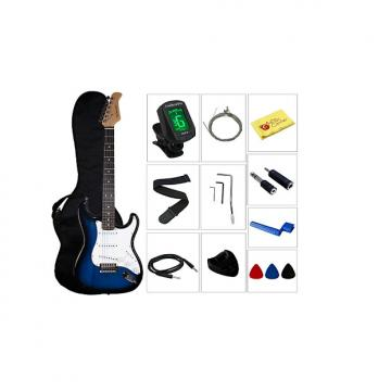 Custom YMC Beginner Series 39-Inch Electric Guitar Starter Package with Gig Bag,Strap,Cable,Picks,Pick Hold