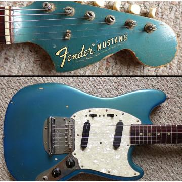 Custom VINTAGE 1972 FENDER MUSTANG LAKE PLACID BLUE