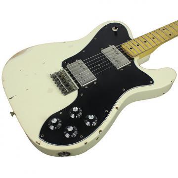 Custom Nash T-72DLX Guitar, Olympic White, Medium Aging