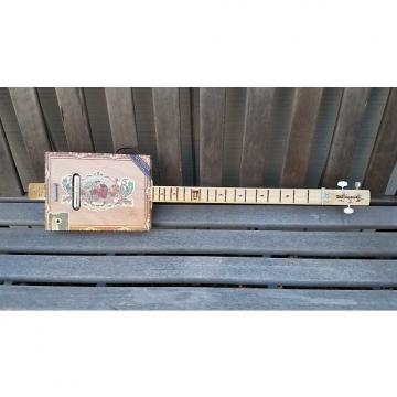 "Custom Shane Speal 3 String ""Deltalectric"" Acoustic/Electric Cigar Box Guitar"