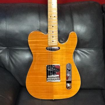 Custom Fender Select carved top telecaster 2012 Amber Natural