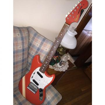 Custom Fender Mustang MIJ 73 reissue Red with white stripe