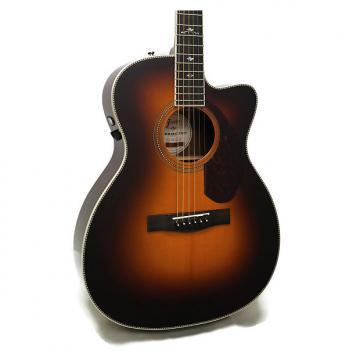 Custom Fender PM-3 Deluxe Paramount Series Triple-0 Acoustic-Electric Guitar w/ Case - Vintage Sunburst