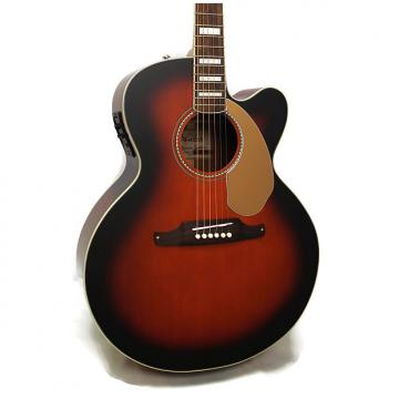 Custom Fender Kingman SCE Jumbo Cutaway Acoustic-Electric Guitar w/ Case - Sunburst
